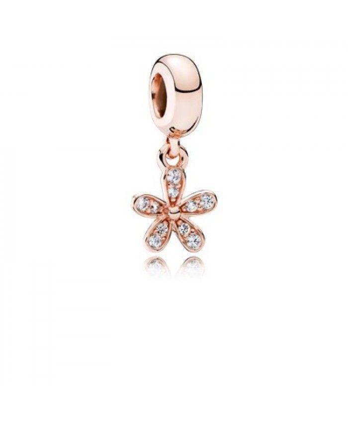 Cheap Pandora 781491CZ Rose Gold Dazzling Daisy Pendant Charm