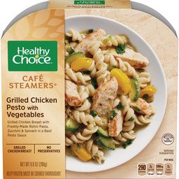 BUY AGAIN! Healthy Choice Cafe Steamers: Grilled Chicken Pesto with Vegetables