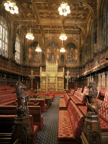 The Lords Chamber, House of Lords, Houses of Parliament, Westminster