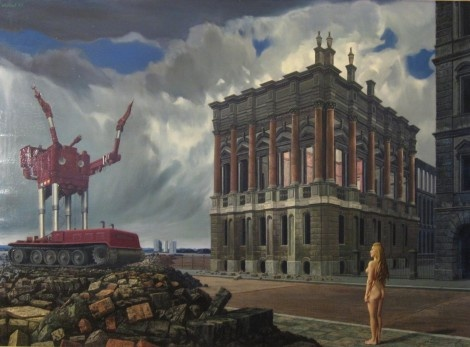 """Bezwering van oude geesten (Exorcism of Old Spirits)"", 1968 / Carel Willink (1900-1983) / Private Collection"