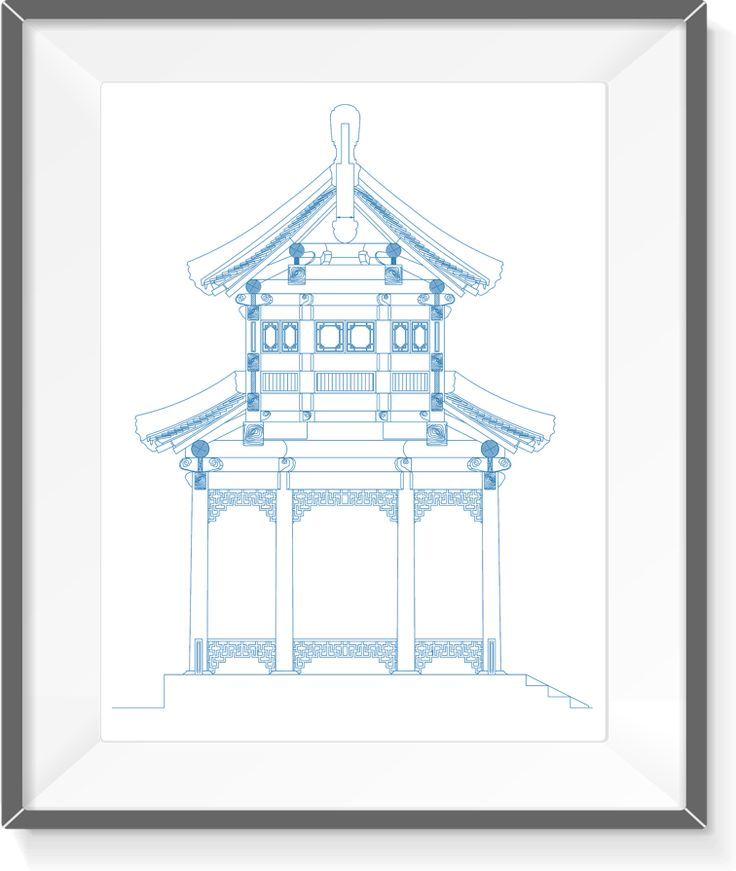 85 best blueprints art real pen drawing wall decor images on traditional asian bungalow 11 real pen drawing by blueprints art malvernweather Gallery