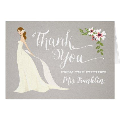 Bridal Shower Thank You Card - Strawberry Blonde in 2018 bridal