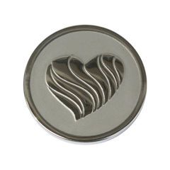 Medium Stainless Steel Plated Love Coin - Composable Coins - Interchangeable coins and discs to create a unique locket - Something Elegant for Silver Jewellery