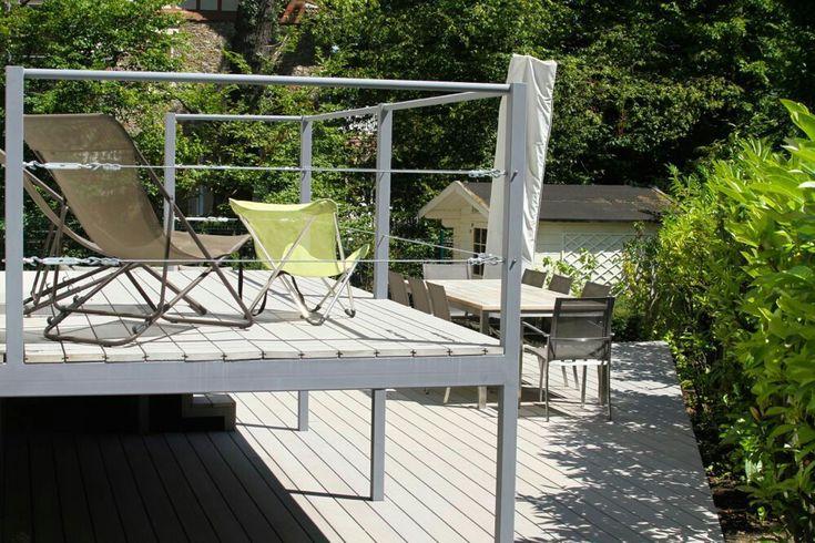 23 best Terrasse métallique images on Pinterest Balconies, Stairs - terrasse sur pilotis metal