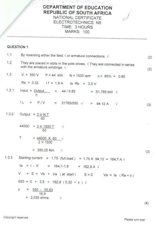Other Textbooks & Educational - ELECTROTECHNICS N5 APRIL 2009. QUESTION…