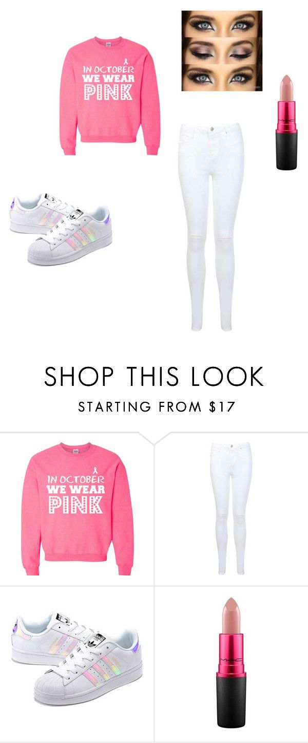 """pink month"" by heddastoltnielsen on Polyvore featuring Miss Selfridge, adidas Originals and MAC Cosmetics"