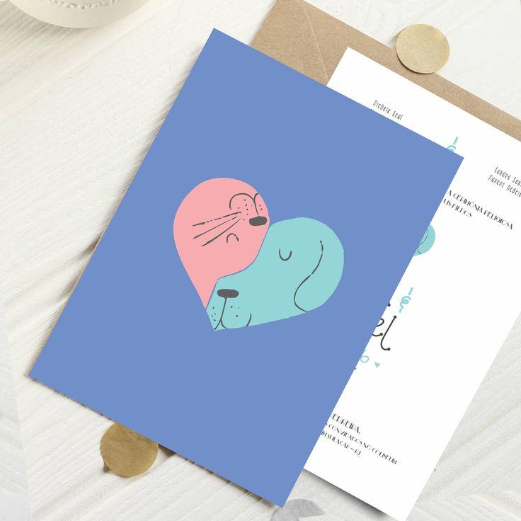 Arte de convite de casamento com cachorro e gatinho, modelo moderno e especial para casamentos. spazio Convites oferece convite de casamento em São Paulo http://spazioconvites.com.br/as-cores-dos-convites-de-casamento/