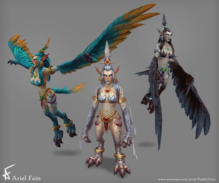 ArtStation - Legion - Harpy, Ariel Fain