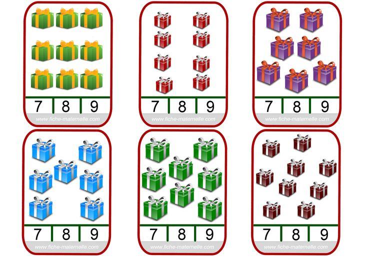 Matematika a karácsonyi témát a gyerekszobában és a CP