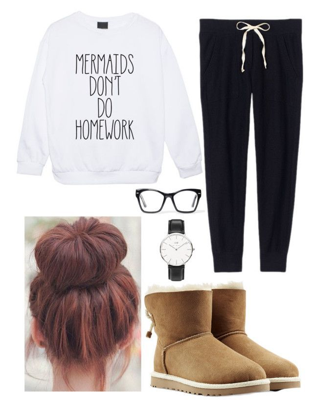 """After school lazy day"" by josie2015 ❤ liked on Polyvore featuring Victoria's Secret, UGG Australia, Spitfire, Daniel Wellington, josie2015collections and lazydaylover"