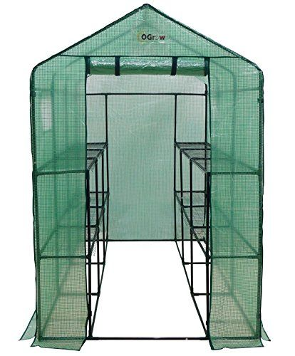 Ogrow Extra Large Heavy Duty WALK-IN 2 Tier 12 Shelf Portable Lawn and Garden Greenhouse | shopswell