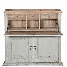 Country farmhouse folding desk painted bureau - Trade Secret