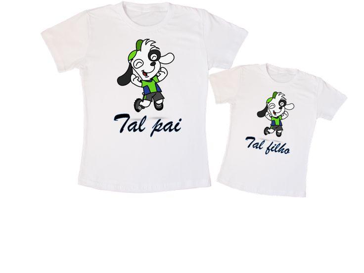 Kit Camiseta Doki Tal pai, tal filho. (01 camiseta adulto, 01 camiseta infantil - R$59,00)
