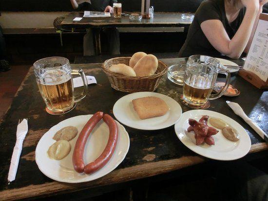 Most authentic pub place in Prague. U černého vola.
