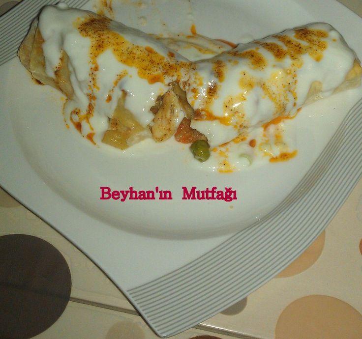 TAVUKLU GARNİTÜRLÜ BÖREK - Beyhan'ın Mutfağı