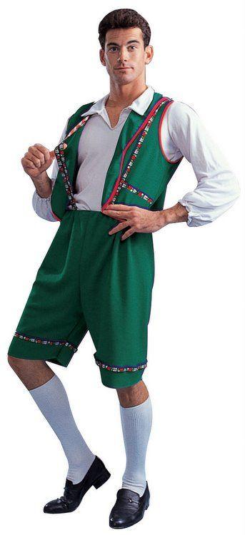 Adult Green Bavarian Lederhosen Costume Celebrate Oktoberfest http://www.oktoberfesthaus.com