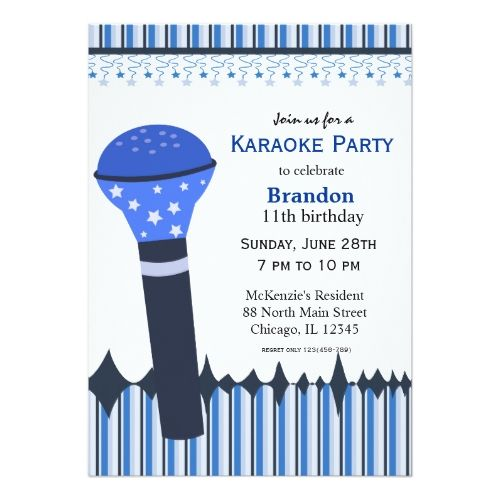 120 best karaoke birthday party invitations images on pinterest karaoke nights card stopboris Gallery