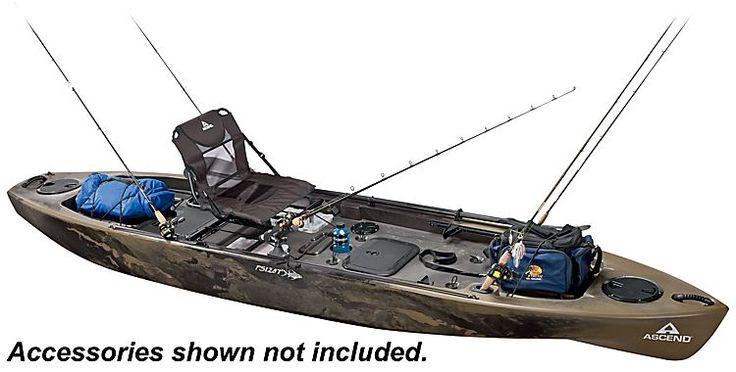 Ascend FS128T Sit-On-Top Angler Kayak - Camo   Bass Pro Shops   Kayaks   Pinterest   Angler ...