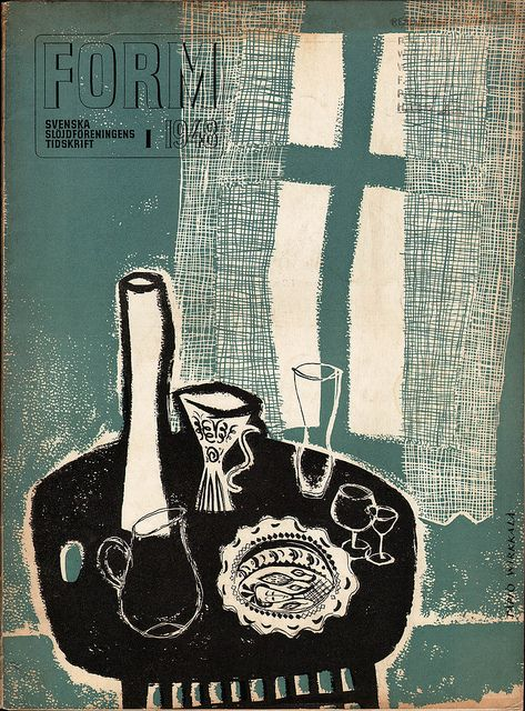 Form Magazine No. 1, 1948. Published by the Swedish Society of Arts and Crafts. Cover by Tapio Wirkkala. via Sandi Vincent