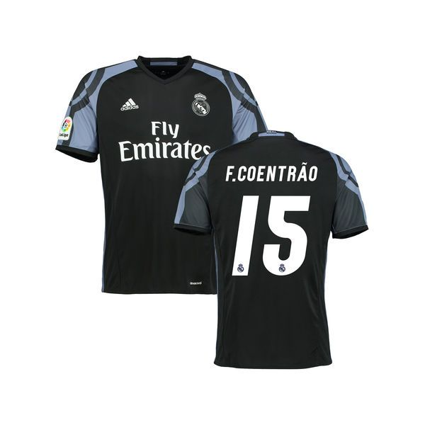 Fabio Coentrao Real Madrid adidas Youth 2016/17 Third Replica Jersey - Black - $84.99