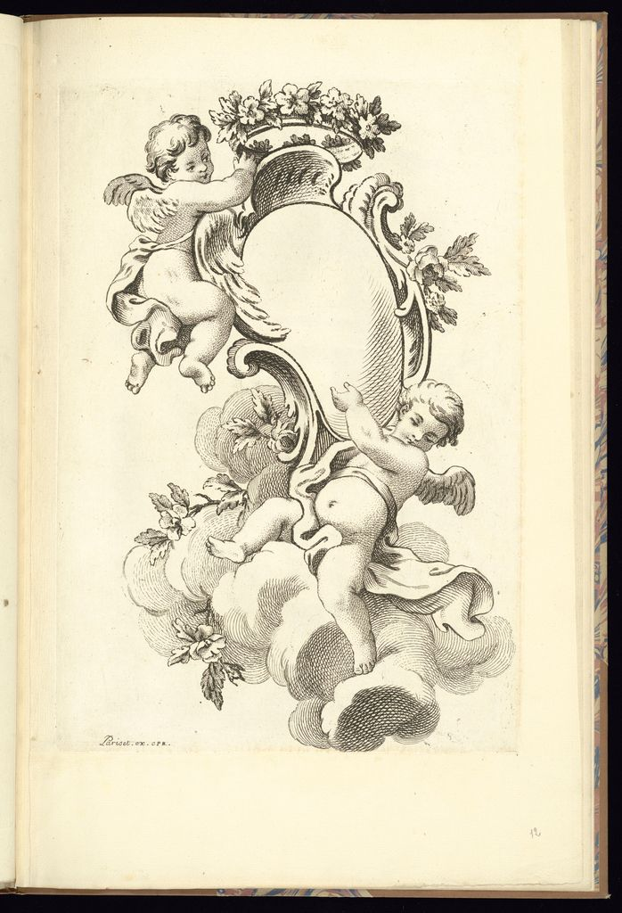 cartouche with two putti