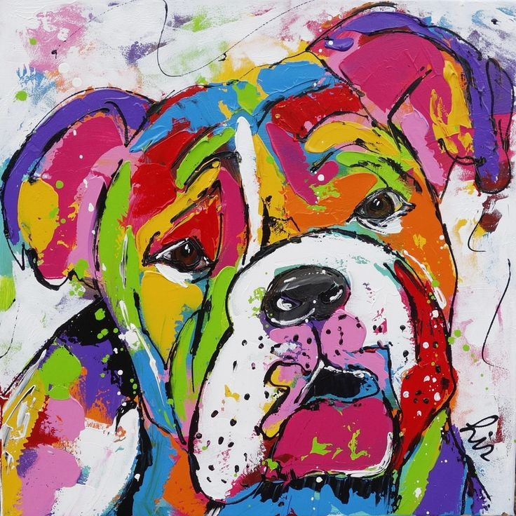 Buldog - www.vrolijkschilderij.nl