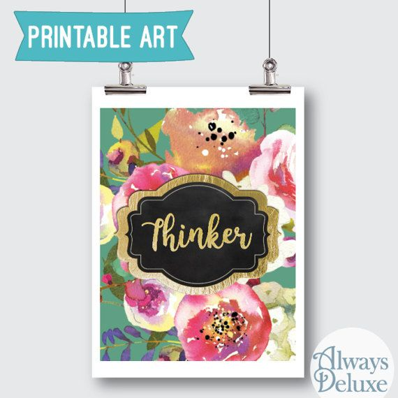 Downloadable art Thinker  8x10inches by AlwaysDeluxe on Etsy
