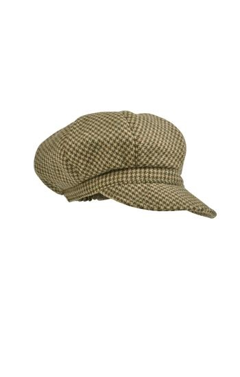 Tweed Lindsey Cap in Ivy Dogtooth by Really Wild Clothing. Available for $75 at http://www.reallywildclothing.co.uk/product/Tweed-Lindsey-Cap-in-Ivy