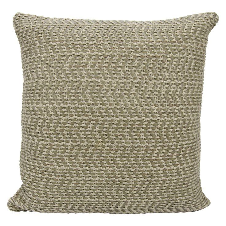 Joseph Abboud by Nourison Leather Basket Weave Decorative Throw Pillow - 798019028312