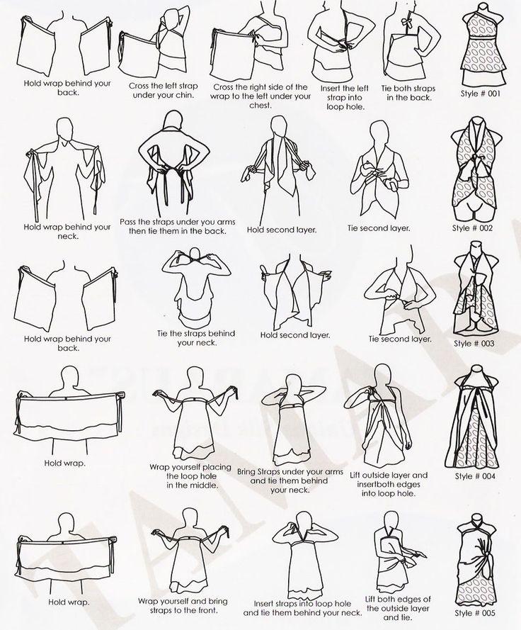 lots of ways to wrap a sari wrap skirt