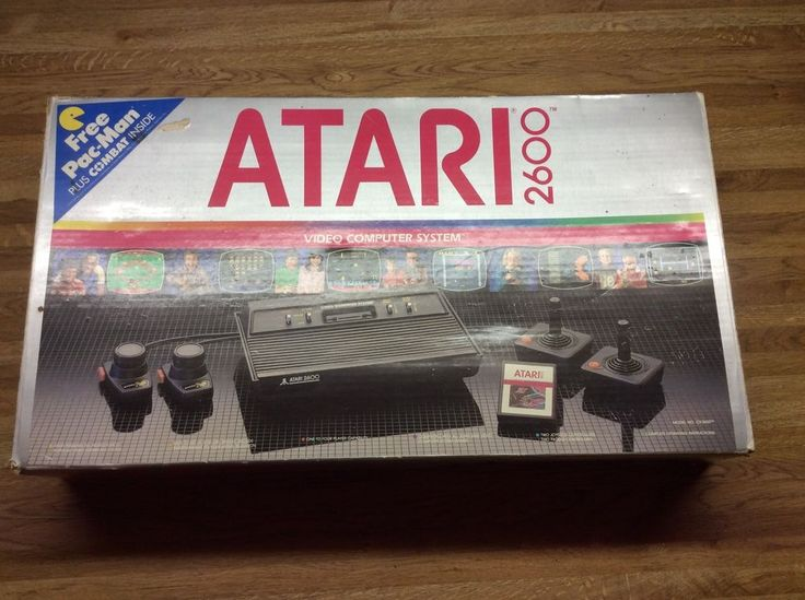 Atari 2600 Console Controllers Power Adapter Games Tunnel Runner Super Breakout