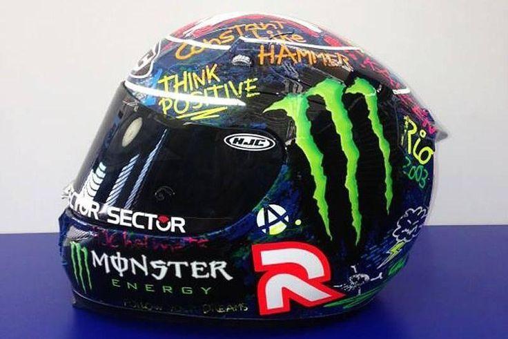 El casco de Jorge Lorenzo para el GP de Cataluña 2013