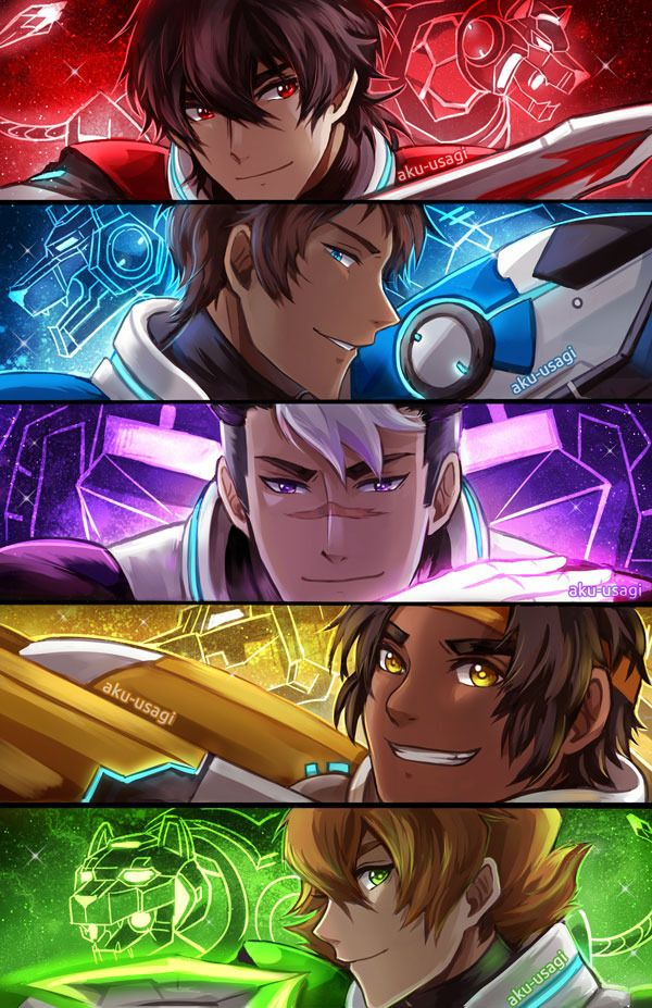 Paladins of Voltron. Credits to aku-usagi on Tumblr