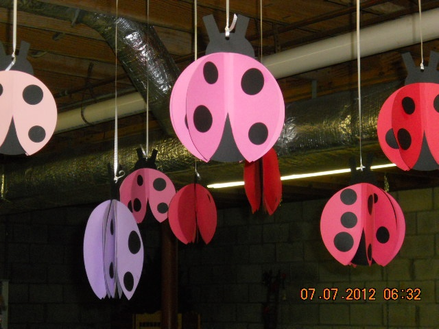 Working on Ladybug decorations for a baby shower for first grandbaby!  Got the original idea from Pinterest and changed it up a bit!  They turned out great!
