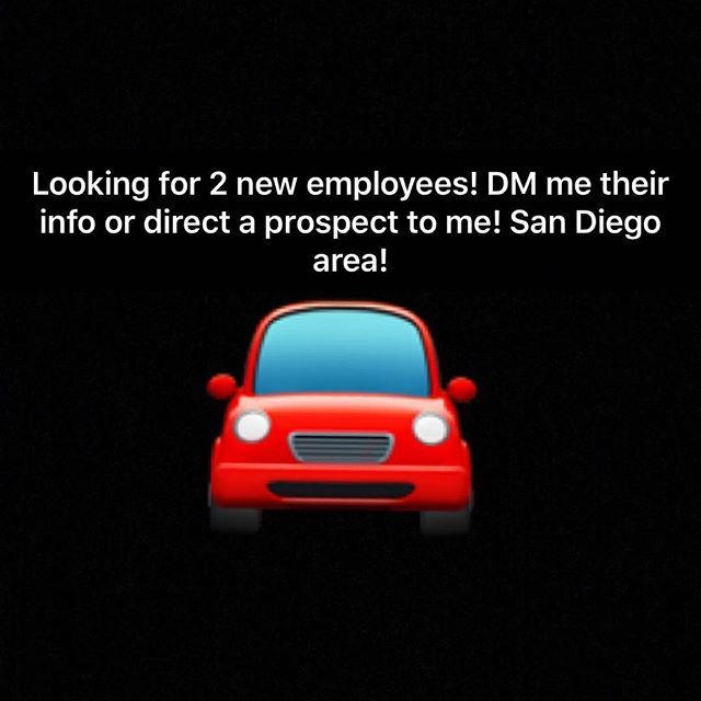 Looking for 2 new employees to start asap! DM me San Diego! 😌 #sandiego #car #lamesa #ranchosantafe #lajolla #autospamobiledetailing #autodetailing #amazing #mustang #mustanggt #sports #luxurycars #luxury #exotic #exoticcars #bmw #bmwsandiego #bmwelcajon #BmwUSA #camaro #camarozl1  #sandiegoheadturners #headturnerscarclub #headturners #corvette #bentley #highend #money #classy #ranchosantafelocals #sandiegoconnection #sdlocals #rsflocals - posted by Israel Chavez…