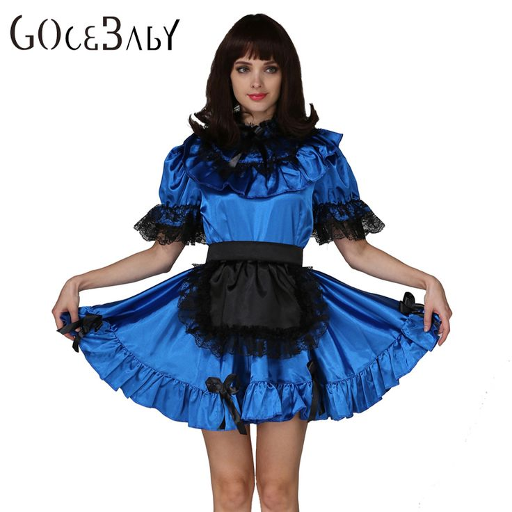 Sissy In Sissy Maid Lockable Blue Stain Dress Costume Uniform Forced Fem Crossdressing Cosplay Costume #Sissy maids http://www.ku-ki-shop.com/shop/sissy-maids/sissy-in-sissy-maid-lockable-blue-stain-dress-costume-uniform-forced-fem-crossdressing-cosplay-costume/