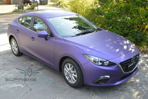 Thinking about painting my mazda 3 a matte  pearl purple. It's so pretty :)