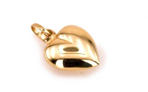 Dámsky prívesok srdce na Valentína zo žltého 14 karátového zlata