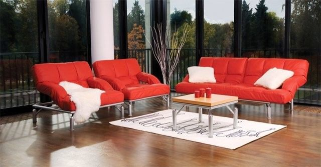 Красные диваны в интерьере фото