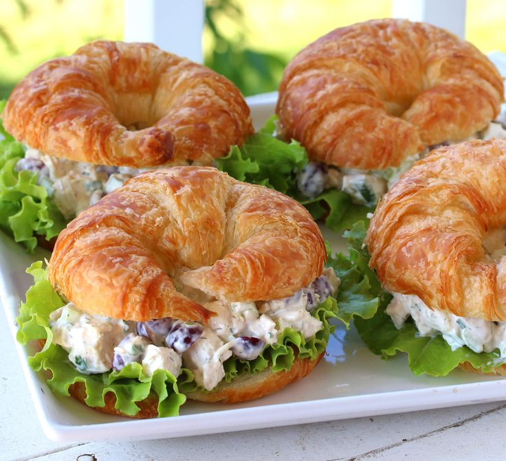 best chicken salad classic recipe grapes dill sandwiches croissants deli style