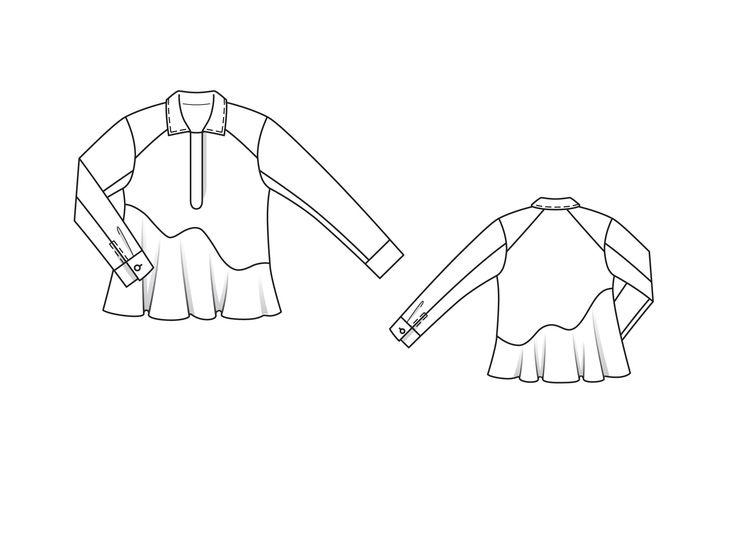 Блузка - выкройка № 104 из журнала 2/2015 Burda – выкройки блузок на Burdastyle.ru