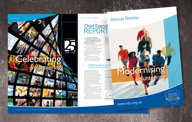 Marketing materials for Volunteer Development Scotland, Scotlands leading third sector organisation