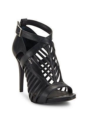 Calvin Klein Nadia Leather Cage Heels