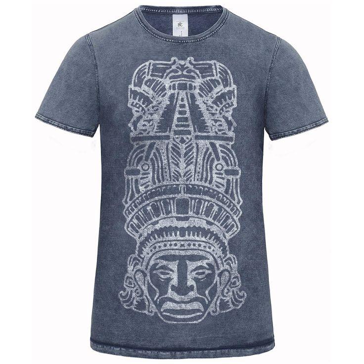 Indiánske denim pánske tričko s potlačou