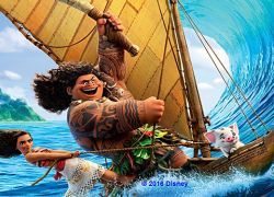 FRE!!  Movies in Parks - Moana. Fri 31st March. 7.45pm. Point England Reserve