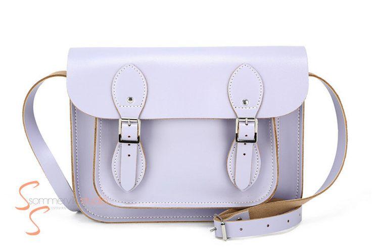 Light purple British style genuine leather satchel messenger bag  / purple satchel bag / purple messenger bag / leather purple bag by sommervillestudio on Etsy https://www.etsy.com/au/listing/199655889/light-purple-british-style-genuine