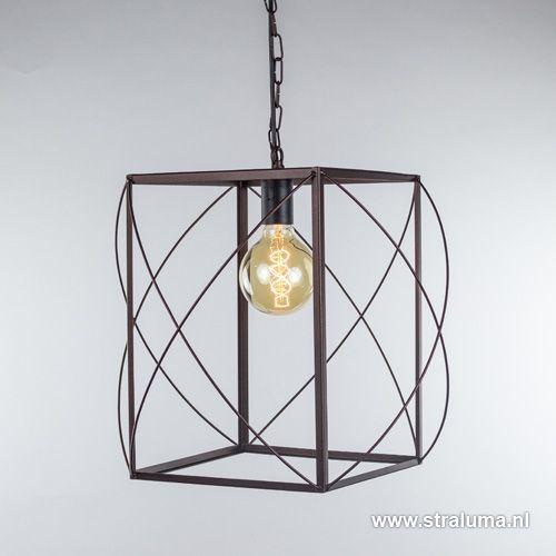 Lantaarn hanglamp Corridor bruin - www.straluma.nl