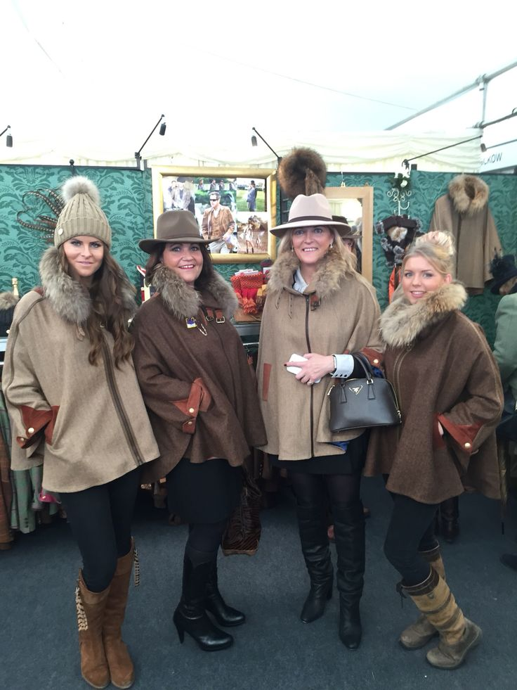All spotted in Holland Cooper capes at Cheltenham