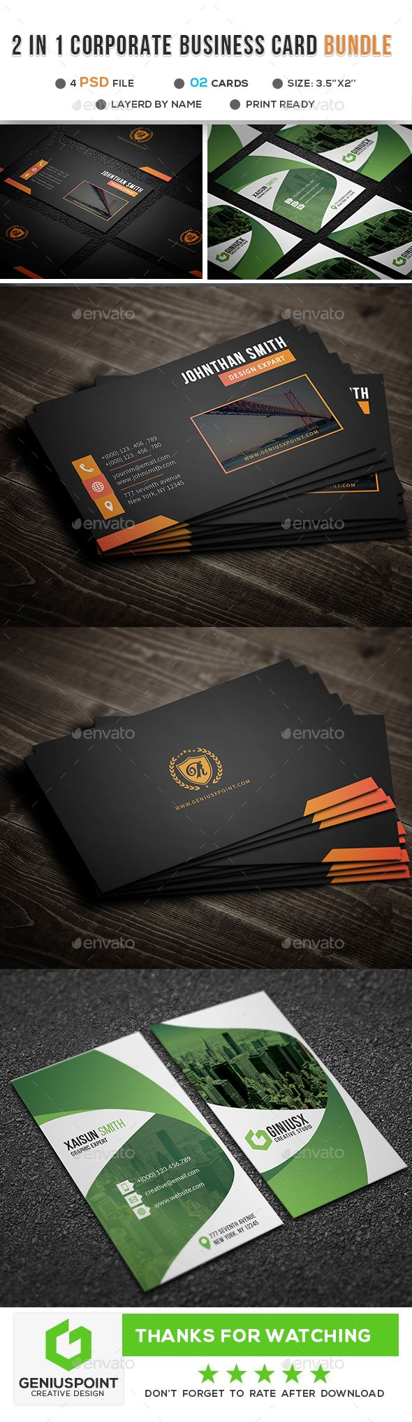 Business Card Bundle Printing Business Cards Business Card Template Psd Buy Business Cards