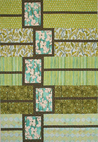 "A fun, fast pattern with endless options for the placement of the boxes - hence the name! Size OptionsLap size:        52x64""    (4 sections, no border)Long lap:        52x80""    (5 sections, no border)Large throw:    66x78""    (4 sections with border)Twin:              66x94""    (5 sections with border)Fabric RequirementsMain section fabrics    ½ yd per sectionAccent strip/frame fabric(s)    ¼ yd per section    or ⅔ yd of one fabric for a 4 section quilt    or ¾ yd of one fabric for a 5 ..."